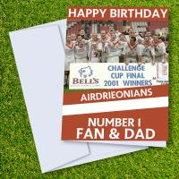 Airdrieonians FC Happy Birthday Dad Card