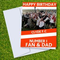 Clyde FC Happy Birthday Dad Card