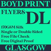 10000 DL Single Sided Business Flyers