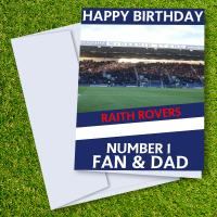 Raith Rovers FC Happy Birthday Dad Card