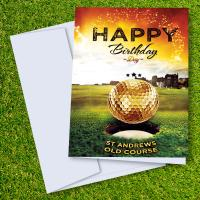 St Andrew's Old Golf Course Birthday Card