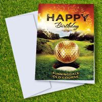 Sunningdale Old Golf Course Birthday Card