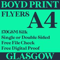 250 A4 Single Sided Business Flyers
