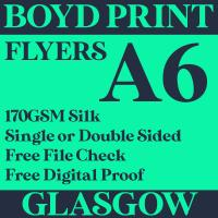 500 A6 Single Sided Business Flyers