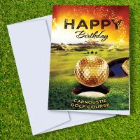 Carnoustie Golf Course Birthday Card