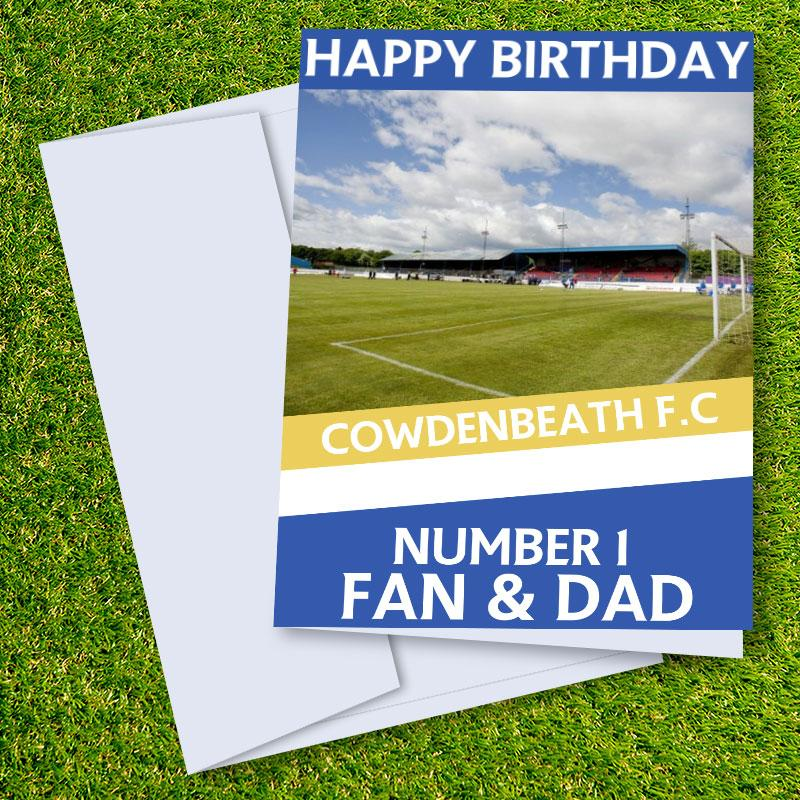 Cowdenbeath FC Happy Birthday Dad Card