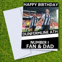 Dunfermline Athletic Happy Birthday Dad Card