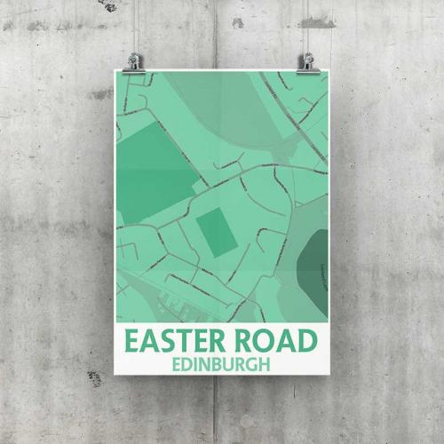 Easter Road Geo Poster A3 Size