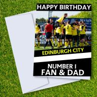 Edinburgh City FC Happy Birthday Dad Card