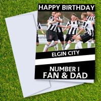 Elgin City FC Happy Birthday Dad Card
