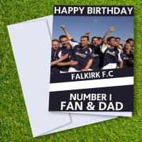 Falkirk FC Happy Birthday Dad Card