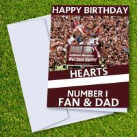 Hearts of Midlothian FC Happy Birthday Dad Card