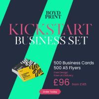 Kickstart Business Set 500 Business Cards and A5 Flyers