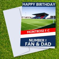 Montrose FC Happy Birthday Dad Card