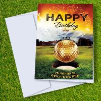 Muirfield Golf Course Birthday Card