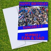 Rangers FC Happy Birthday Dad Card