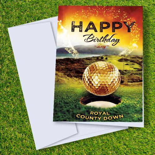 Royal County Down Golf Course Birthday Card