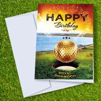 Royal Dornoch Golf Course Birthday Card
