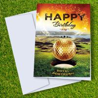 Royal Portrush Golf Course Birthday Card