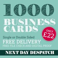 Business Cards Printed Full Colour Single or Double Sided - 1000 only £22.00