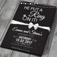 100 Personalised Engagement Party Invitations, Invites, with Colour Envelopes