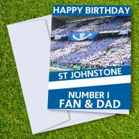 St Johnstone FC Happy Birthday Dad Card