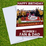 Stenhousemuir FC Happy Birthday Dad Card