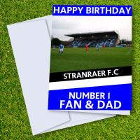 Stranraer FC Happy Birthday Dad Card