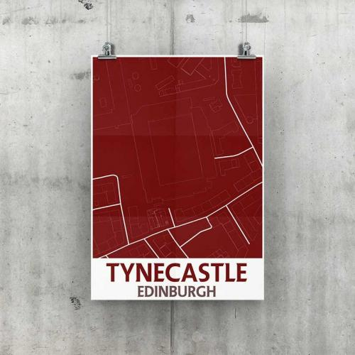 Tynecastle Park Geo Poster A3 Size